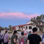 People gather at Walking Box Ranch near Searchlight, Nevada